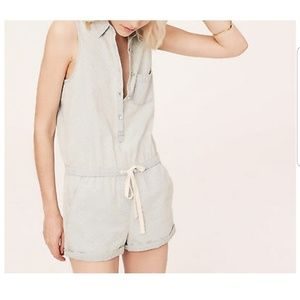 Lou & Grey Chambray Romper